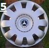 """Mercedes Benz 16"""" 1 Sæt (4 stk)"""