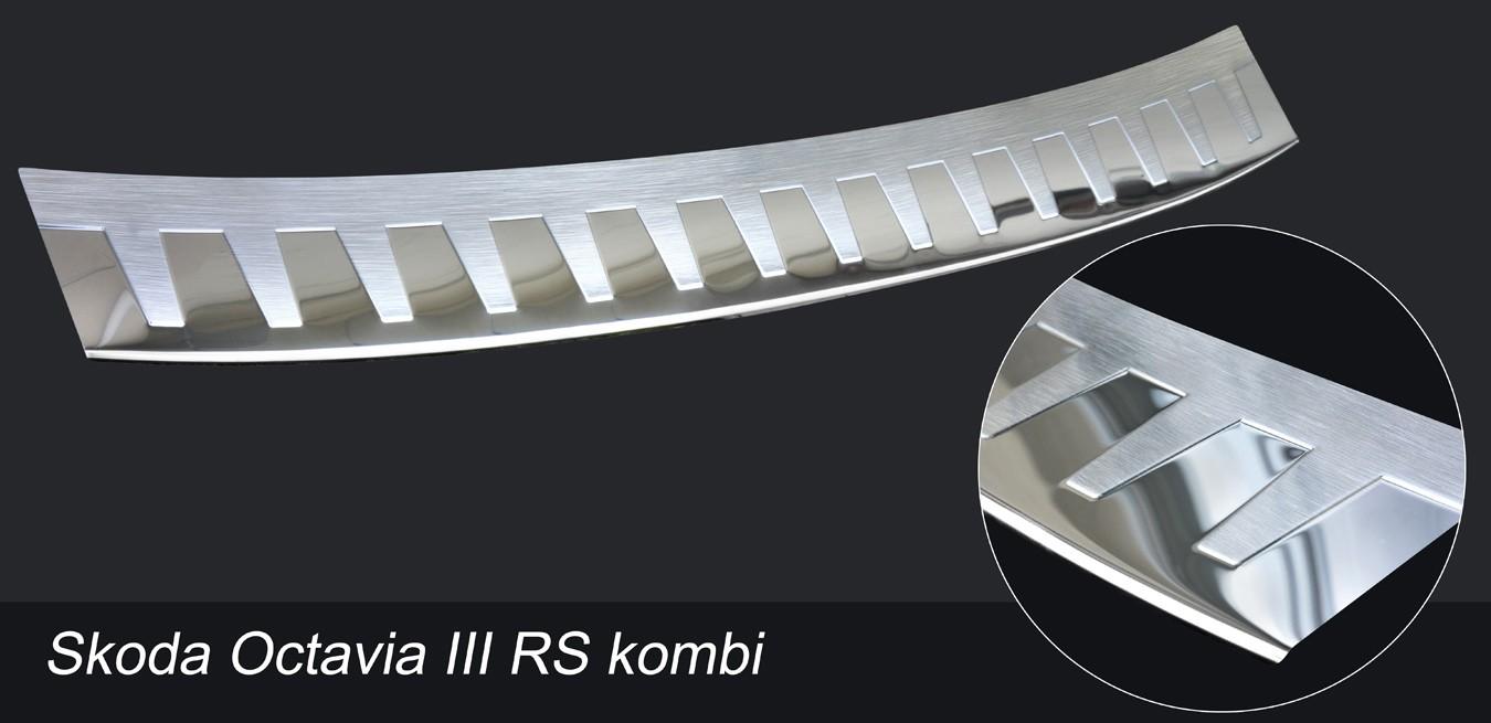 Skoda OCTAVIA III RS combiprofiled ribs chrome polished 2013-