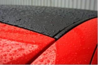 3D Carbon Floie Black Satin 152 x 100